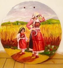 Jana Prendi(Kukaj) -pikturë e gruas zadrimore në qeramikë