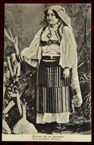 kartolinë shqiptare në Mal të Zi(nuse shkodrane me veshje tradicionale zadrimore)