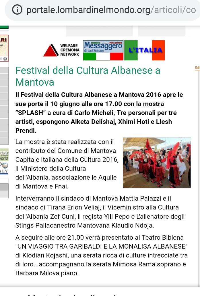Gazetat italiane për Ll. Prendin